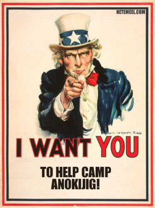 I want you to help Camp Anokijig