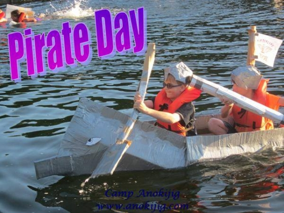 pirate day cardboard boat races